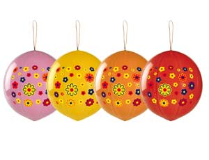 Панч-болл с рисунком Цветы многоцв (1/25), арт.1104-0051 фото
