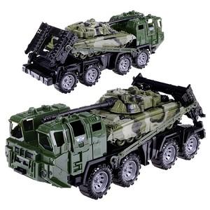 """Военный тягач """"Щит"""" с танком (камуфляж) в инд.кор, арт.258/2 фото"""