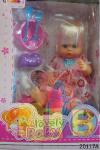 Кукла с аксессуарами ( памперс, бутылочка, тарелка) арт.20117 А (кор.12)Ш фото