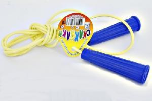 """Скакалка """"Детская"""" с пластмассовыми ручками 2м., арт.617 фото"""