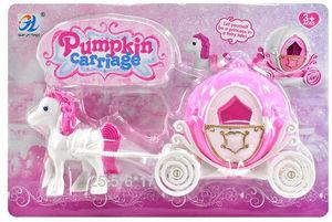 Карета с лошадью PumpkinCarriage на карт., арт.47157 фото
