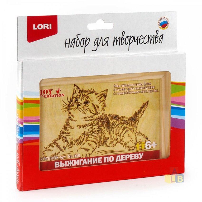 """Выжигание в рамке """"Котёнок"""" арт. Вр-008 фото"""
