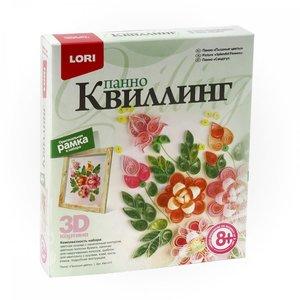 """Квиллинг. Панно """"Пышные цветы"""" арт.Квл-011 фото"""