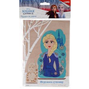 """Роспись по дереву. Игрушка-сувенир Disney. Холодное сердце-2 """"Эльза"""", арт.Фнд-001 фото"""