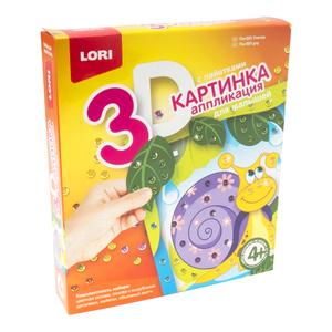 """Картинка 3D.Аппликация для малышей с пайетками """"Улитка"""", арт.Пм-005 фото"""