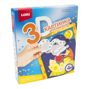 """Картинка 3D.Аппликация для малышей с пайетками """"Мышка"""", арт.Пм-006 фото"""