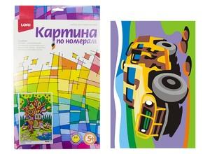 """Картина по номерам для малышей """"Боевая машина"""", арт.Ркн-025 фото"""