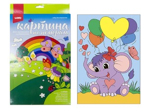 """Картина по номерам для малышей """"Забавный слоненок"""", арт.Ркн-038 фото"""