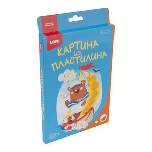 """Картина из пластилина """"Мишка моряк"""", арт.Пз/Пл-011 фото"""