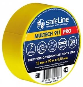 Изолента Safeline 19/20 желтый арт.9367 фото