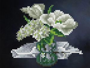 Картина-открытка мозаикой  БЕЛЫЙ БУКЕТ, арт.KM0044/1  фото