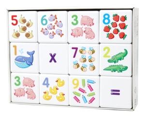 """Кубики """"Кубики для умников. Арифметика"""" 12 шт (без обклейки), арт.00711 фото"""