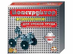 Конструктор мет.№1 (для уроков труда) 206 эл. арт.00841 фото