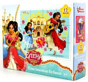 "Кубики ""Елена. Принцесса Авалора"" (без обклейки) 12 шт Дисней, арт.03856 фото"