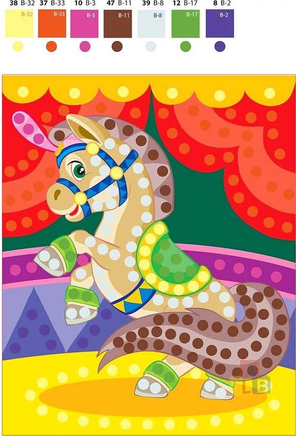 Аппликация из пайеток. Маленький пони арт.01525 фото