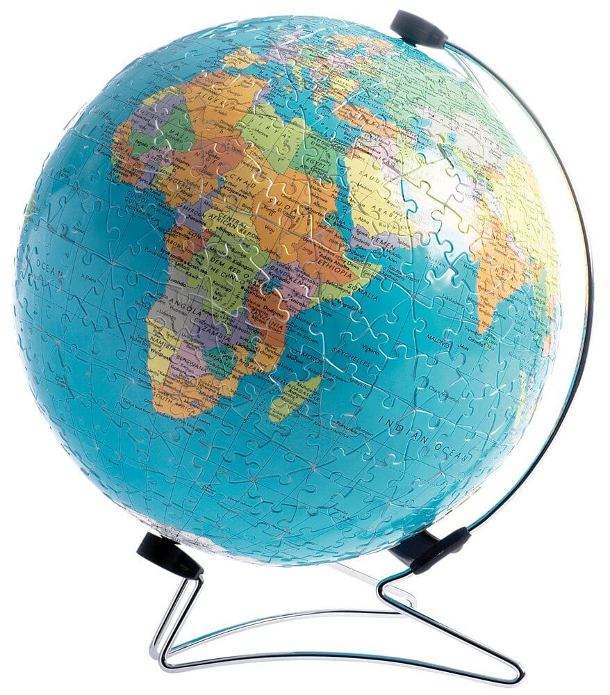 3D пазл глобус