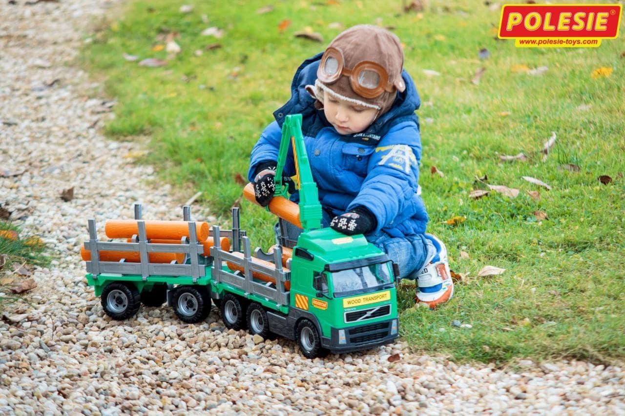 игрушка лесовоз с прицепом Volvo от Полесье