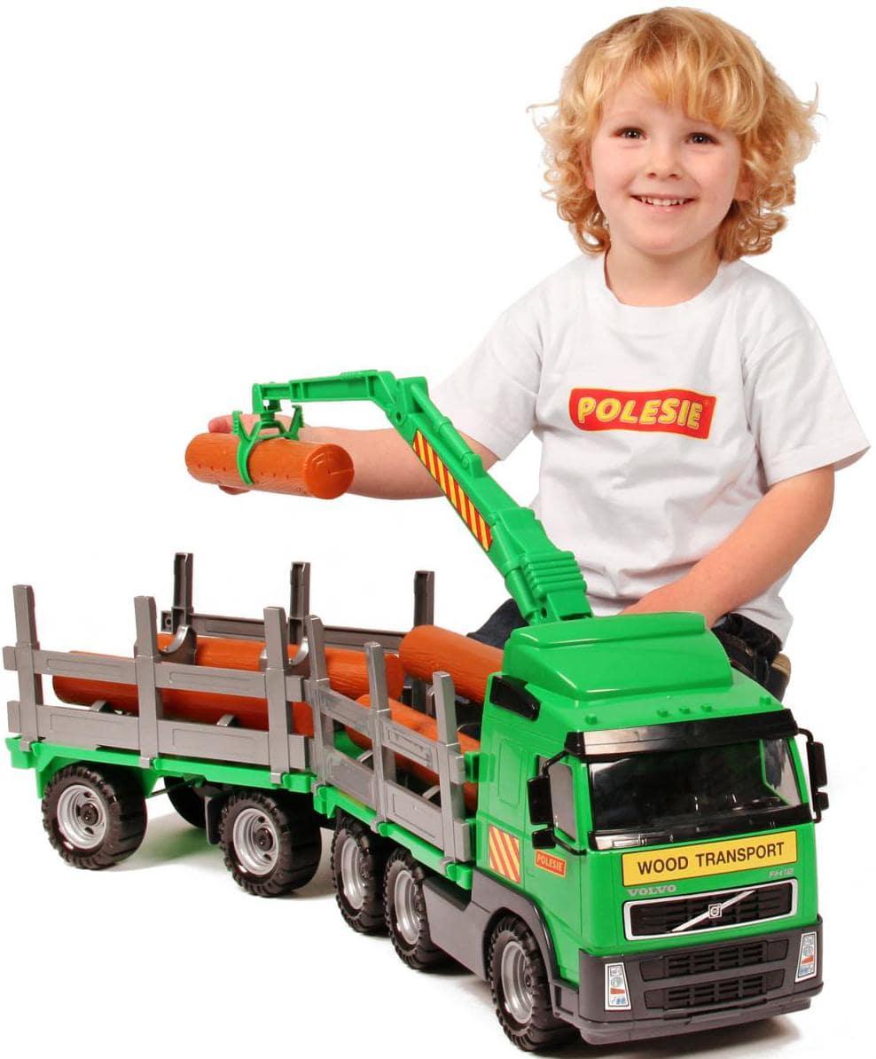 игрушечный лесовоз с прицепом Volvo