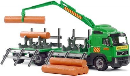 лесовоз с прицепом Volvo игрушка от Полесье