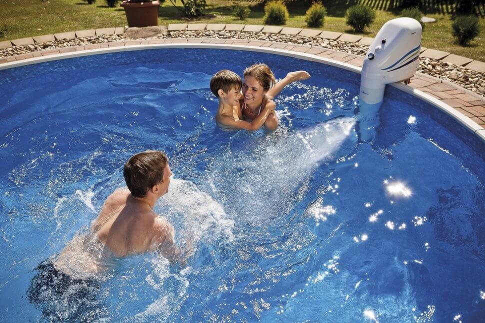 Противоток в каркасном бассейне