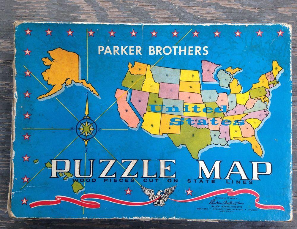 Пазл карта братьев Паркер